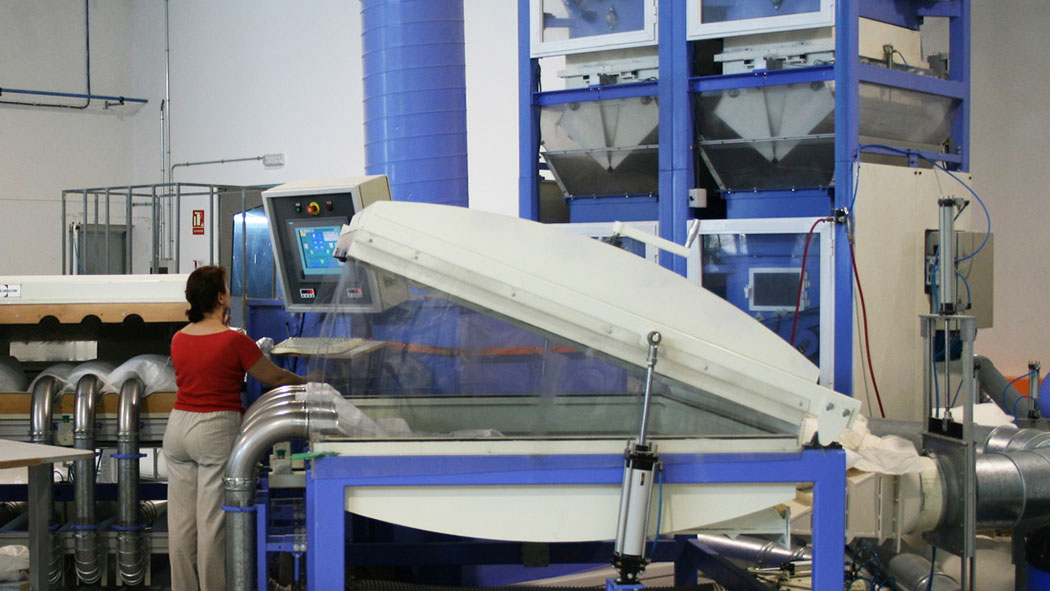 pillow filling machine for sofa cushions