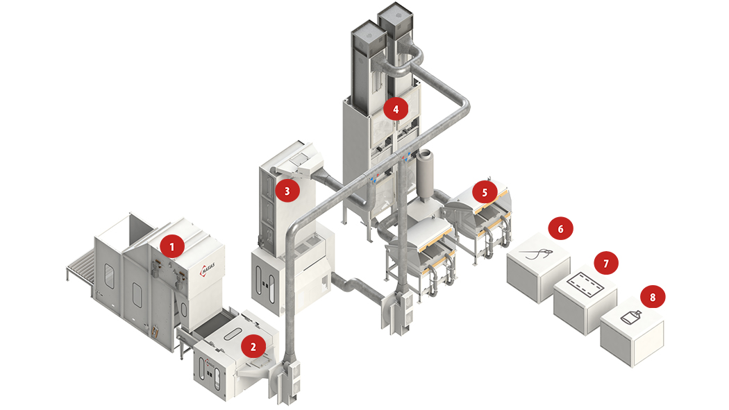 Automatic pillow filling line